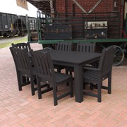 Christmas Sale!  All Weather Synthetic Wood Dining Set on Sale