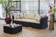 Christmas Sale!  All Weather HDPE Wicker Sectional Sofa Set on Sale