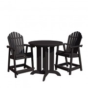 Easter Sunday Sale - Outdoor 3 Piece Round Counter Dining Set
