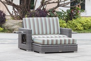 Mega Sale on Wicker Loveseat with Storage Ottoman