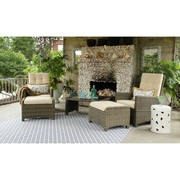 Wicker Recliner Lounge Set On Sale